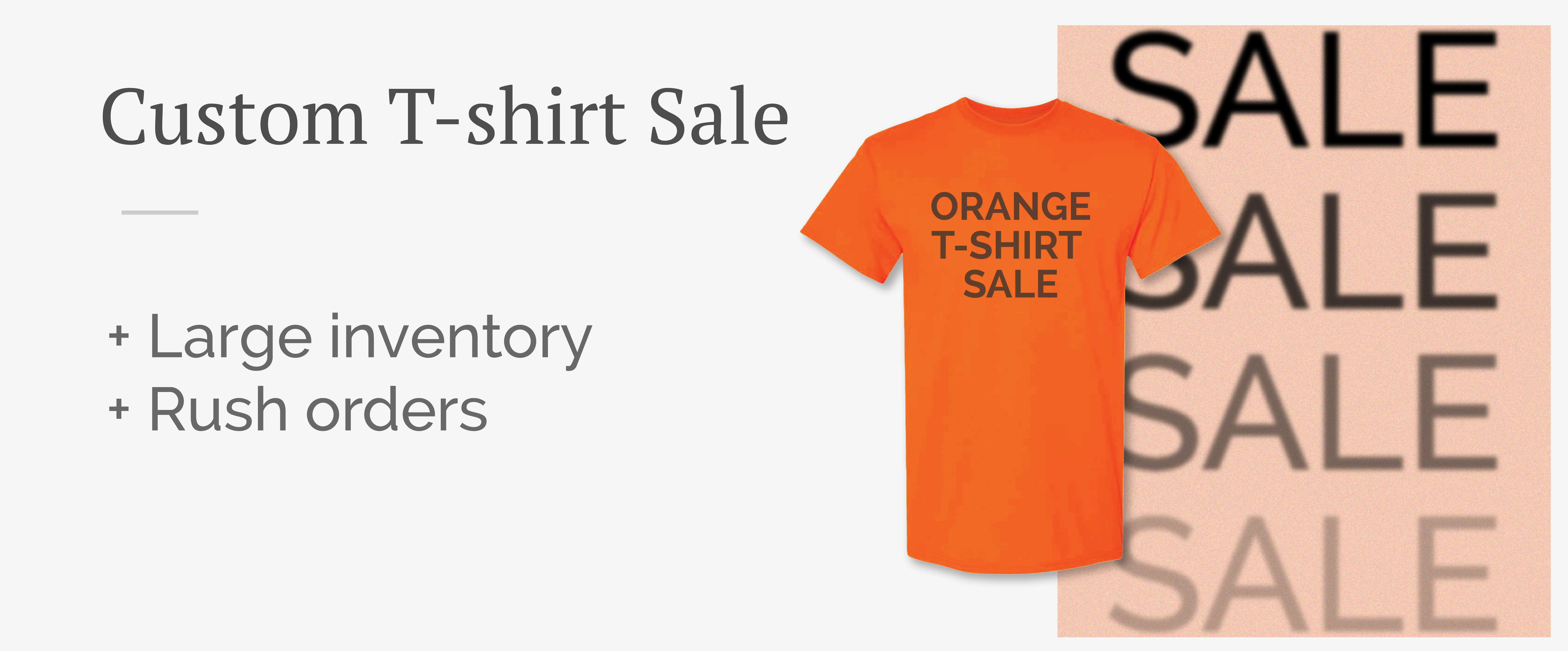 Orange T-shirt Sale